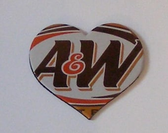 Heart Magnet - A&W Root Beer Soda Can