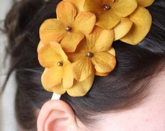 Sunshine- A Beautiful Bright Yellow Floral Statement Headband- Free Shipping