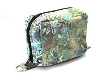 Essential Oil Case Holds 6 Bottles Essential Oil Bag Sage Green and Brown Leaves Batik