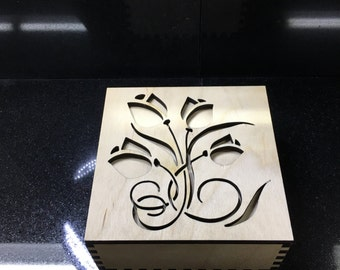 Tulip Flower designed keepsake box