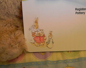 Baby Shower Invitations- Peter Rabbit with Mama Rabbit and his siblings
