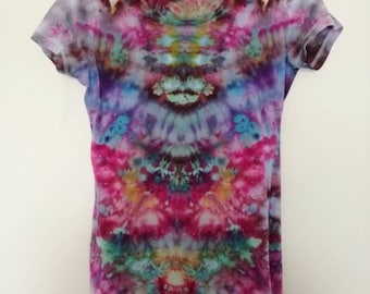 Psychedelic bodycon t-shirt dress // M
