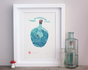 An ark to weather all storms. Open edition screenprint.