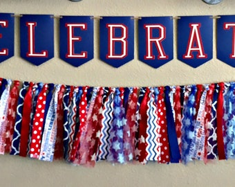 Patriotic Banner and Garland