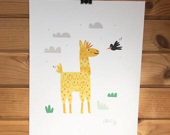 Llama Love Print