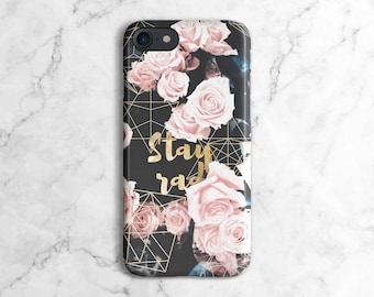 Stay Rad Pink Roses Pattern Phone Case for iPhone 6 / 6S / 6 Plus,  iPhone 7, iPhone 7 Plus, Samsung Galaxy S8 | DLC381