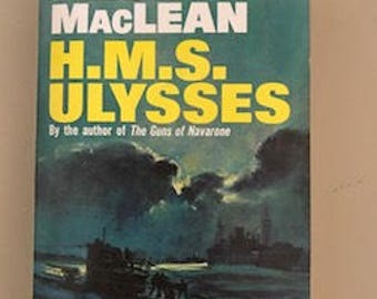 Vintage 1955 edition of Alistair MacClean novel H.M.S. ULYSSES -- PB Thriller, Very Good Condition