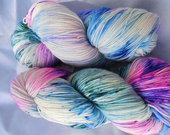 Hand Dyed Speckled Yarn, Superwash Merino Nylon  Blend - Farmers Market
