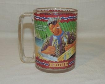 VTG 1993 Camel Joe's Beach Club - Eddie Cigarette / Smoking Plastic Advertising Mug