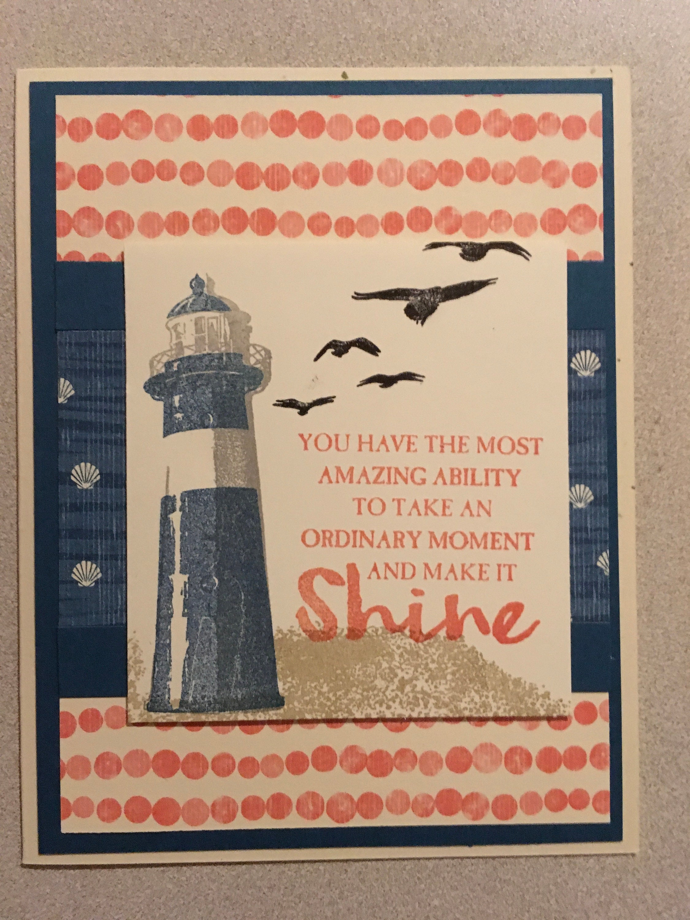 Nautical Greeting Cards From Stampintimewithtammy On Etsy Studio