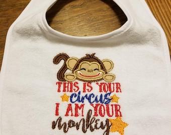 Circus Monkey Bib