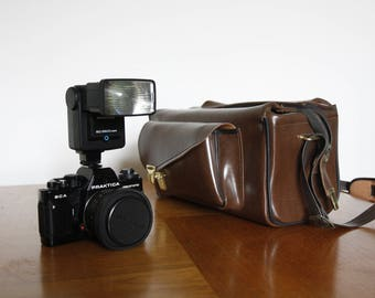 Praktica BCA Electronic Camera + Lense + Flash + Film + Carry Bag, Excellent Condition. Untested