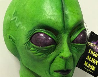 1950's Extraterrestrial Alien Halloween latex Mask