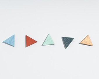 earrings triangle // earings wood // geometric
