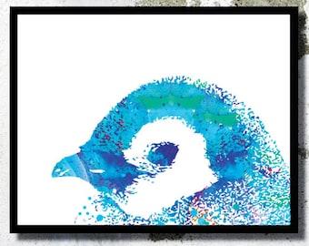 Penguin Watercolor Print Happy feet poster Penguins poster Penguins painting Home decor Penguins Baby room Penguin Nursery Kid nursery art