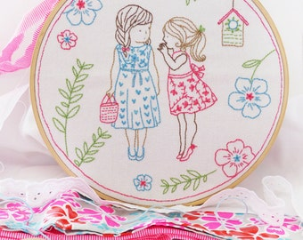 Embroidery art christmas decoration craft kit houseplants baby girl nursery ideas christmas ideas embroidery kit 2 girls and a secret solutioingenieria Choice Image