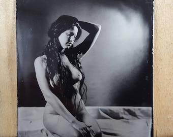 Nude model figure study tintype Kelsey-06