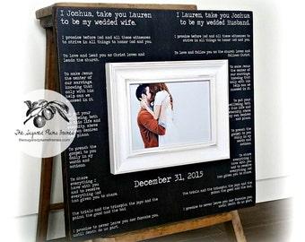 Valentines Day Gift, Wedding Vow Art, Framed Wedding Vows, Wedding by thesugaredplums