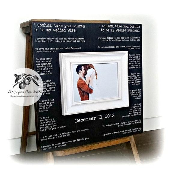Valentines Day Gift Wedding Vow Art Framed Wedding Vows