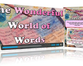 Wonderful World of Words Mini Art Journaling Class by Jennibellie
