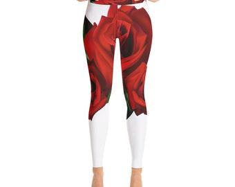 Roses are Red Yoga Leggings/Pants