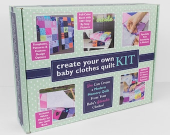 New Mother Gift! Baby Clothes Quilt Kit | New Mom Gift Mothers Day Gift Unique Baby Shower Gift For Mom New Mommy Gift For Expectant Mothers