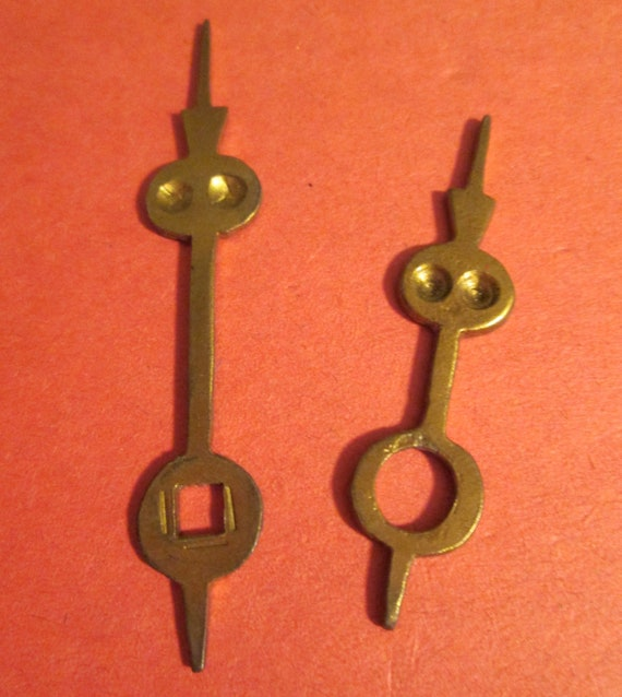 Interesting Pair of Solid Brass Hand Made Clock Hands for your Clock Projects + Jewelry Making - Steampunk Art - Crafts & Etc.....