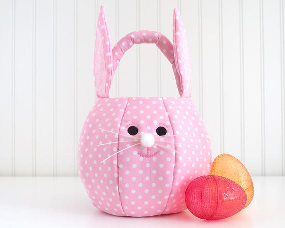 Easter basket girl easter bunny bag fabric easter basket negle Image collections