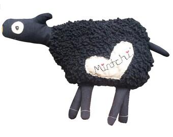 Black Sheep, Black Sheep Softie, Black Sheep Toy, Plush Black Sheep, Sheep Softie, Sheep Toy