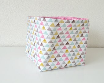 Storage basket in geometric print office organizer baby storage bin nursery caddy toy storage new baby gift baby shower gift