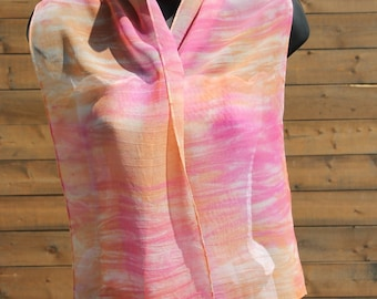 Citrus Punch ... hand painted silk chiffon scarf