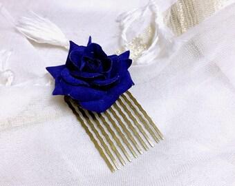 Hair clip Bobby pin pink blue Bohemian Gothic Victorian lolita retro