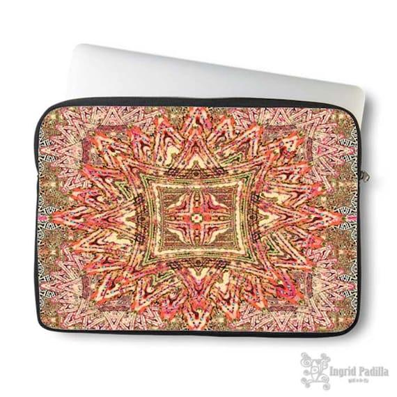 Boho Vintage, Neoprene Laptop Sleeve, laptop sleeve, Macbook case, Laptop case, Laptop Cover, Ingrid Padilla, Abstract Art