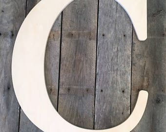 24 Inch Large Wooden Letter for Indoor Use, Wedding Guest Book - Baltic Birch