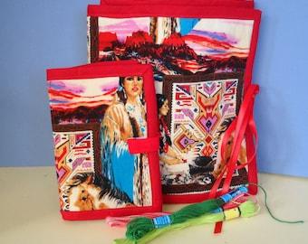 Indian Maiden Sewing and Handwork Organizer Set SALE