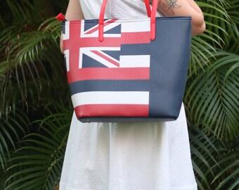 Hawaii Bag Ladies Tote Ladies Shoulder Bag Flag Bag Hand Bag Fashion Beach Bag Flag Tote UK Union Jack Britain Flag