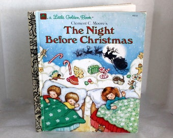 The Night Before Christmas, Vintage Little  Golden Book, Clement C Moore, 1987