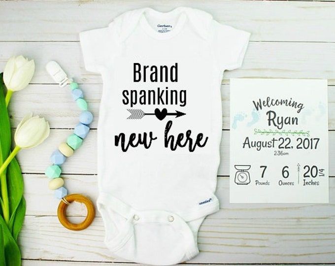 Featured listing image: Baby Birth Announcements Onesie and Card