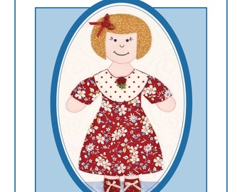 Dolls & Dresses to Appliqué book, Doll Quilt Pattern