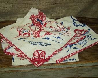 Alaska Fabric Squares Alaska Napkins Vintage Alaska Textiles