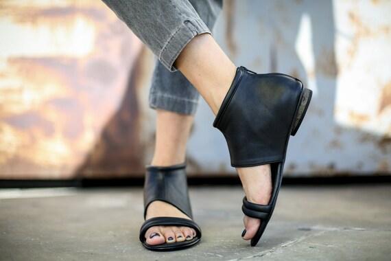 Albane Summer SALE Strappy Black Flats Summer Sandals Black Sandals Gladiator Sandals Leather Shoes Sandals Handmade Sandals 5qwZrqa