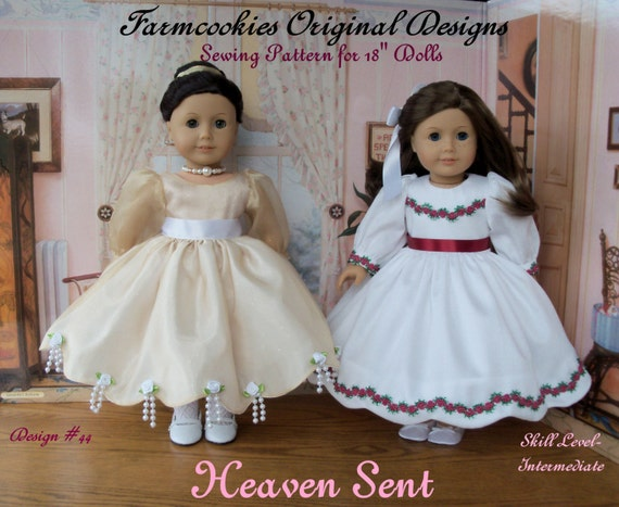 """PRINTED Sewing Pattern / HEAVEN SENT / Fits American Girl® or Other 18"""" Dolls"""