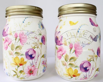 Meadow Flowers & Butterflies Kilner Jar