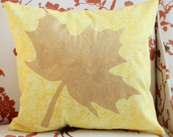 Fall Leaf Pillow 14x14