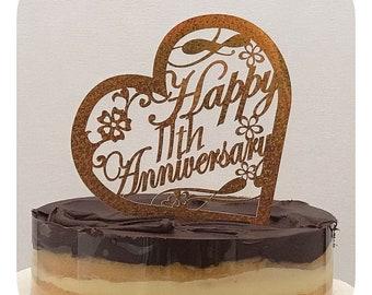 Personalized Anniversary Cake topper