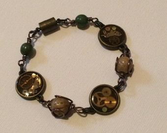 Gearing for Flight Steampunk Bracelet