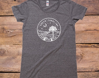 South Carolina State Design - Women's TriBlend Old School T-Shirt