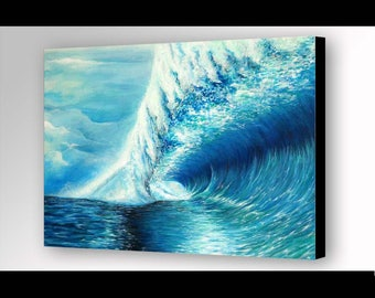 Wave Art | Ocean Decor | Ocean Wall Art | Ocean Painting | Wave Painting | Sea Painting | Beach Decor | Ocean Art | Wave Print | Seascape