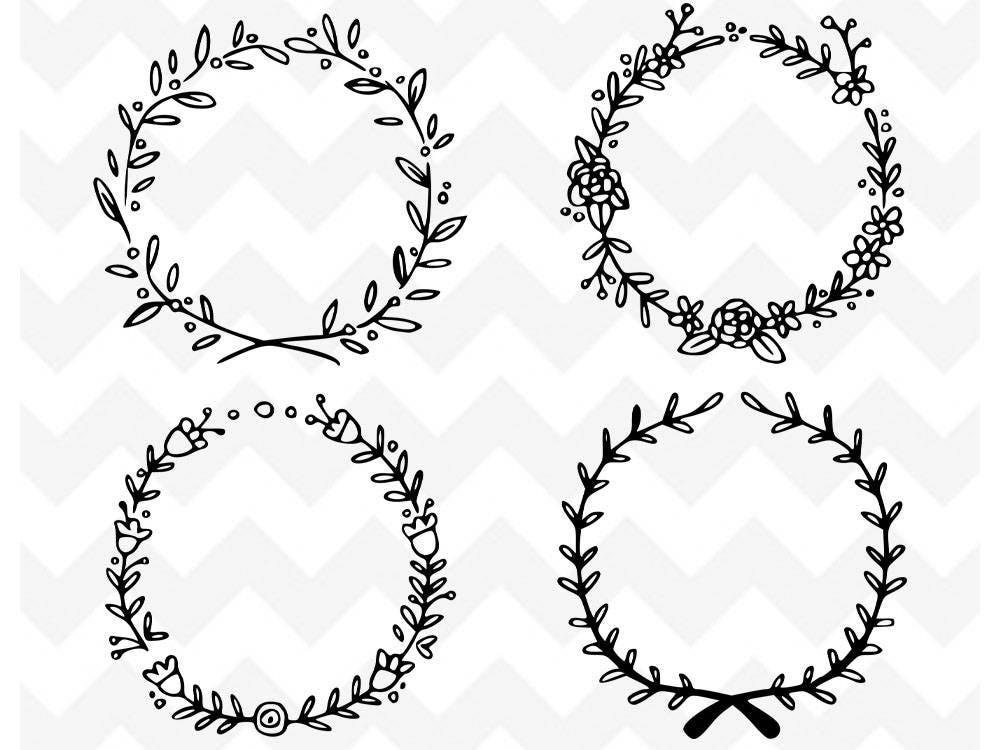 Floral Wreath SVG Wreath SVG Wreath Bundle SVG Cutting