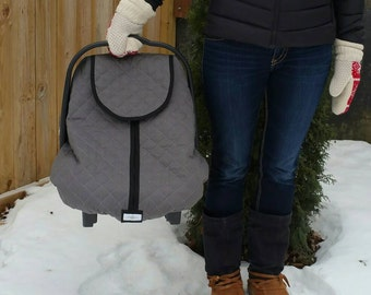 Winter Infant Car Seat Cover Polar Car Seat Line-Charcoal Grey with Black Trim